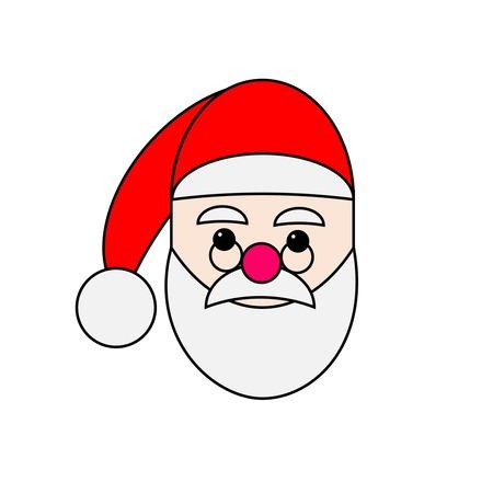 Weihnachtsmann-Gesicht Symbol lachen