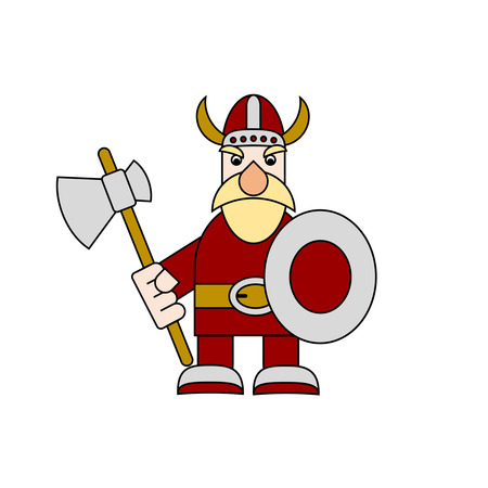 cute viking character with his axe