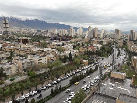 tehran city aerial view