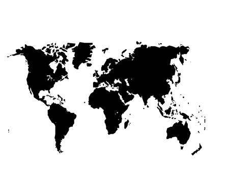 Weltkarte mit Land Grenzen isoliert auf weißem Hintergrund