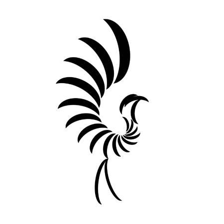 Imaginären Vogel-Design mit einem langen Schwanz