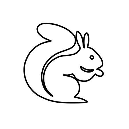 Eichhörnchen Silhouette in einem einfachen Design