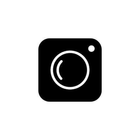 icon photo camera in simple black and white vector image