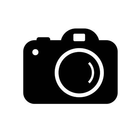 icon photo digital camera in simple black and white vector image