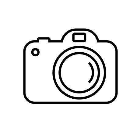 Digitalkamera in der einfachen Linie Vektor-Bild Illustration