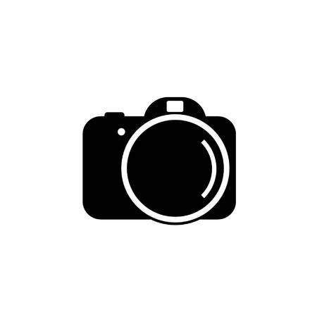 Ein Digitalkamera-Symbol in einfachen Schwarz-Weiß-Vektor-Bild