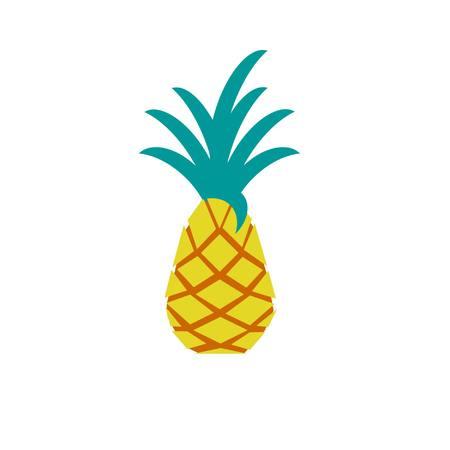 geometrische Ananas isoliert auf weißem Hintergrund Illustration
