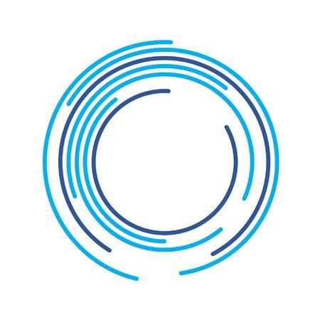 abstrakte Komposition blau Bögen und Kreise Illustration