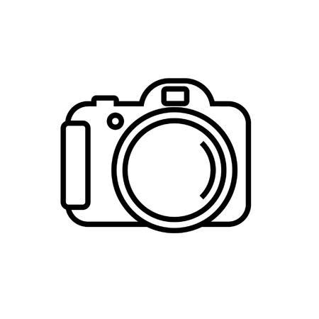 icon Foto-Kamera in der einfachen Linie Vektor-Bild