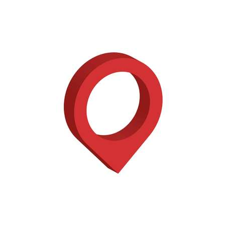 3d map pointer symbol isometric icon or icon for web design