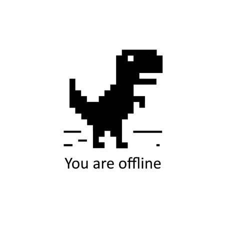 Offline error for android a black dinosaur icon or dinosaur avatar
