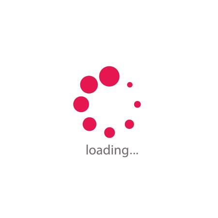simple circle loading in pink