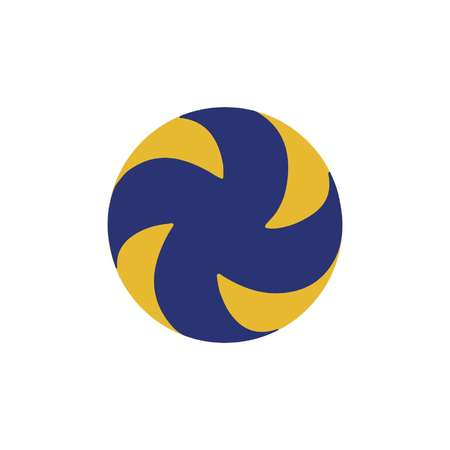 volleyball ball in blue and yellow standard style Illustration
