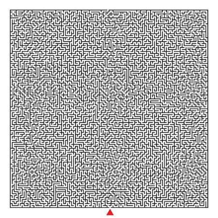 square complex maze Standard-Bild - 101493156