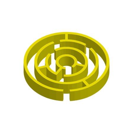 3D golden maze  イラスト・ベクター素材