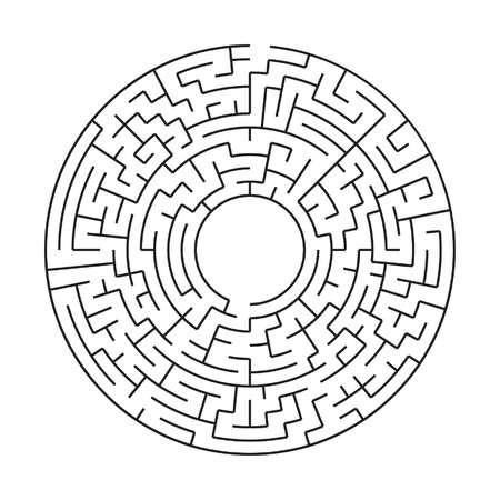 circular maze on CD or DVD, a complex labirenth maze