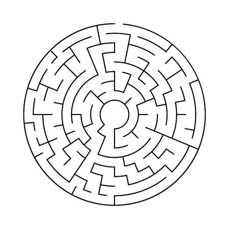 simple circular maze