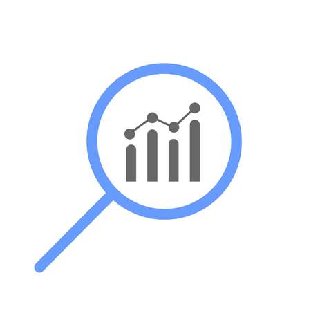 magnifier focused on chart or statistics