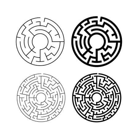 set of circular mazes