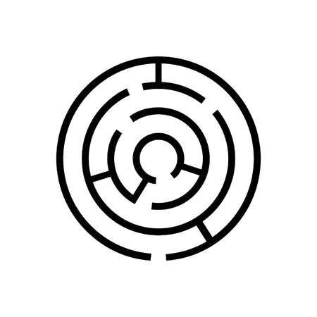 simple maze icon in flat style
