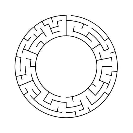 circular maze with large inner diameter Illustration