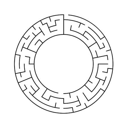 circular maze with large inner diameter Illustration