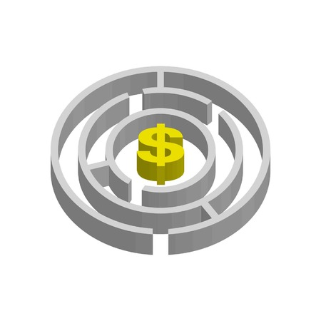 maze and dollar sign showing ways to access money