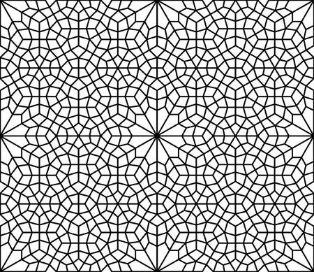 イスラム質またはアラベスク様式のブラックインク幾何学的デザイン 写真素材 - 101089192