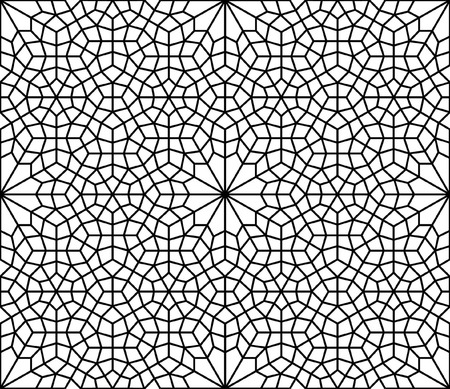 Black ink geometric design of islamic texture or arabesque style