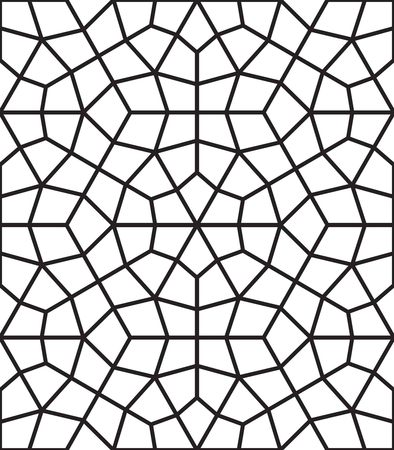 A black ink geometric islamic texture design seamless pattern  background Standard-Bild - 101089188