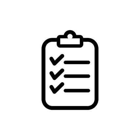 clipboard outline icon Illustration