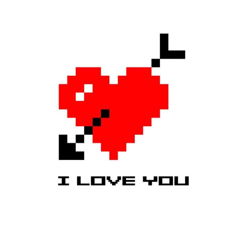 heart in pixel art style or 8 bit