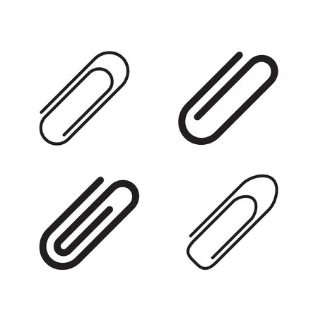 attachment clip icon in a simple minimal style  イラスト・ベクター素材