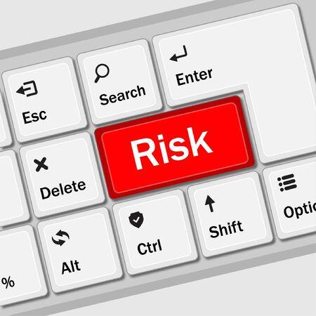 Risk management keyboard shows decision options