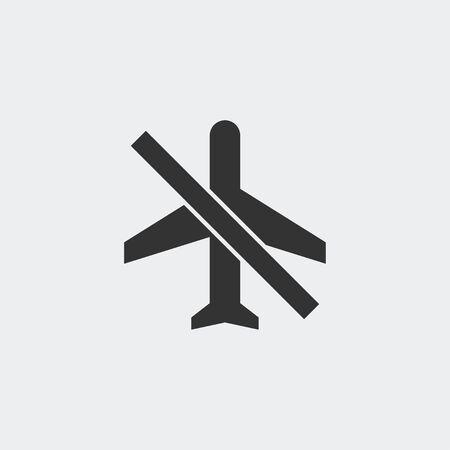 Airplane mode icon vector