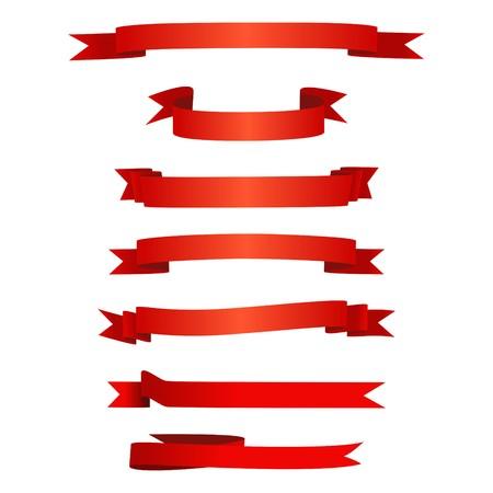 Ruban rouge ensemble  Banque d'images - 43434663
