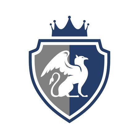 heraldic shield: Royal elegance heraldic shield logo Illustration