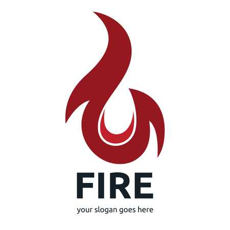 fire flame: Fire logo template set