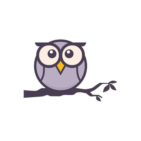 Owl Logo Template Banque d'images - 43553647