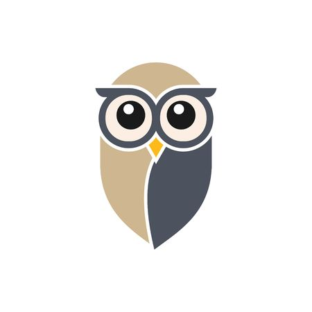 isolated owl: Owl   Template Stock Photo