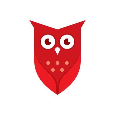 フクロウのロゴのテンプレート 写真素材