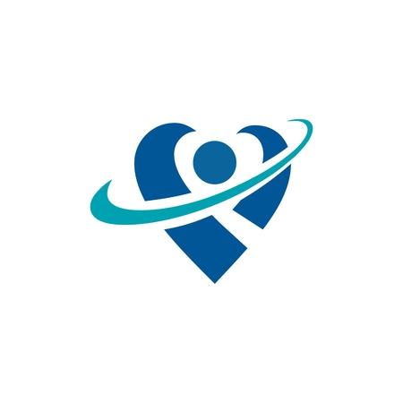 Template gezondheid Logo Stockfoto