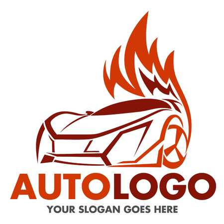 vector flat simple minimalistic car logo auto icon isolated stock rh 123rf com Auto Detailing Logo Garage Automotive Shop Logos