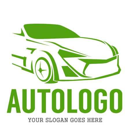 silhouette voiture: Logo Template Automobile Banque d'images