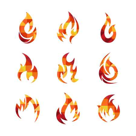 flames background: Fire Icon Template Stock Photo