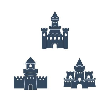 Schloss Logo-Vorlage Standard-Bild - 43587442
