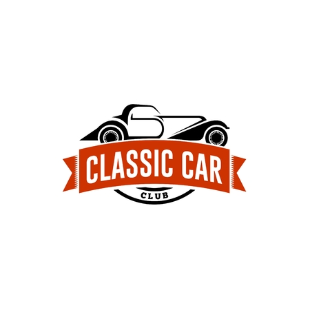 old cars: Classic Car Logo Template