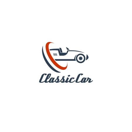 car business: Classic Car Logo Template