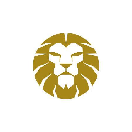 ライオンのロゴのテンプレート 写真素材