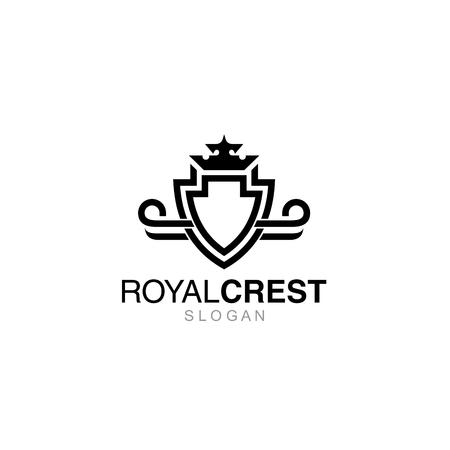 shielding: Crest Logo Template
